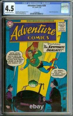 ADVENTURE COMICS #256 CGC 4.5 OWithWH PAGES