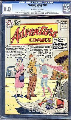 ADVENTURE COMICS #283 CGC 8.0 OWithW 1ST GENERAL ZOD, PHANTOM ZONE, AND DR. XADAL