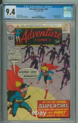 ADVENTURE COMICS #381 CGC 9.4 OWithWH PAGES