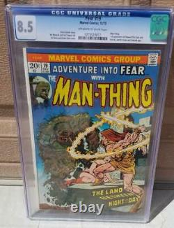 ADVENTURE INTO FEAR #19 CGC 8.5 1st Appearance Howard The Duck Man-Thing 1 1973