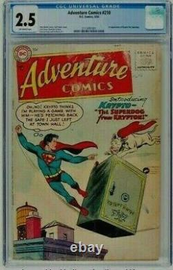 Adventure Comics 210 CGC 2.5 OW 1955 First Appearance of Krypto
