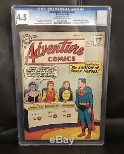 Adventure Comics #247 1st Appearance Legion Of Super Heroes Cgc 4.5 Cr-ow Pages
