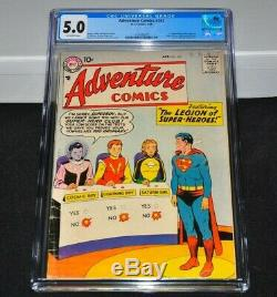 Adventure Comics 247 CGC 5.0 Off-White Pages 1958 1st Legion Of Super-Heroes