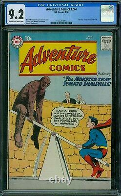 Adventure Comics 274 CGC 9.2 OWithW Pages