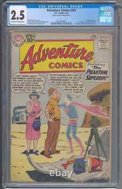 Adventure Comics 283 CGC 2.5 Tape on Cover & Interior Cover First General Zod