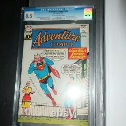 Adventure Comics #289 DC 1961 CGC 8.5 (VERY FINE +) Mary Shelly in story