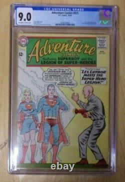 Adventure Comics #325 1964 Cgc 9.0 Off White To Wh Pages, Luthor Cover