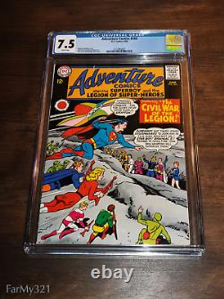 Adventure Comics #333 CGC 7.5 BRIGHT White Pages Solid Very Nice. Top 23 graded