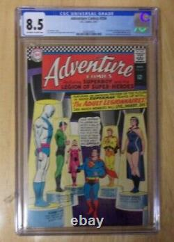 Adventure Comics #354 1967 Cgc 8.5 Off White To White, 1st Chemical King, Reflecto