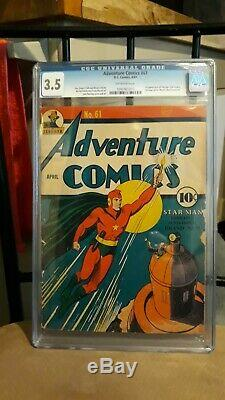 Adventure Comics 61 From 4/41, Cgc 3.5 1st Appearance Of Starman, Key Issue