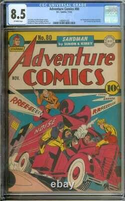 Adventure Comics #80 Cgc 8.5 Ow Pages // Golden Age Simon + Kirby Cover