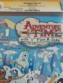 Adventure Time #1 COVER B 1st Print KABOOM CGC 9.6 Signed twice with Sketches