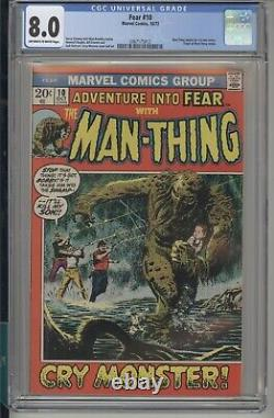 (Adventure into) Fear #10 CGC 8.0 VF Marvel 1972 1st Solo Man-thing series