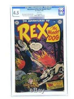 Adventures Of Rex The Wonder Dog 1 CGC 4.5 White Pages 1952