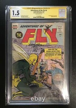 Adventures Of The Fly #4 Cgc Ss 1.5 1st Work And Signed By Neal Adams