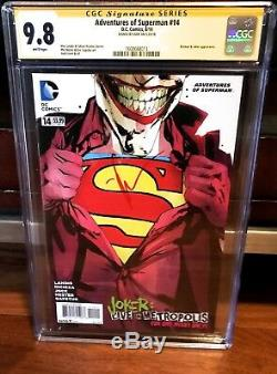 Adventures of Superman #14 CGC SS 9.8 SIGNED BY JOCK (2013, DC) Joker cover NM