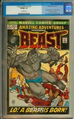 Amazing Adventures #11 Cgc 9.0 Ow Pages // Origin + 1st Appearance Beast 1972