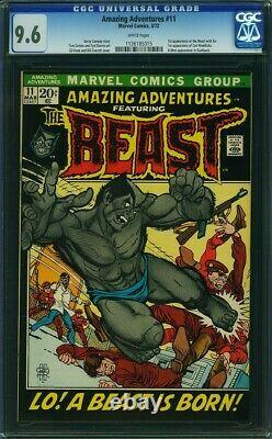 Amazing Adventures #11 (Marvel 1972). New Beast Begins. CGC 9.6 White Pages