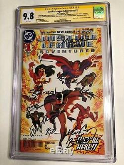 CGC SS 9.8 Justice League Adventures #1 signed by entire voice cast +2 9 sigs