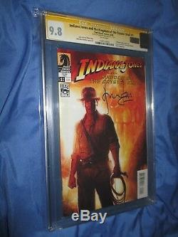 INDIANA JONES #1 CGC 9.8 SS Signed HARRISON FORD/HAN SOLO Kingdom Crystal Skull