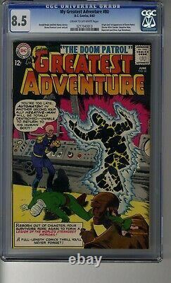 My Greatest Adventure # 80 CGC 8.5 Cream/OW Pages First Doom Patrol TV Show