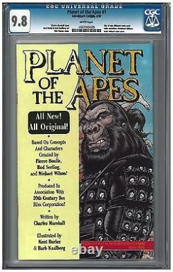 PLANET OF THE APES SET #1(2 color covers) CGC 9.8 (4/90) Adventure white pages
