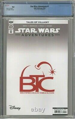 Star Wars Adventures #1 CGC 9.8 Big Time Collectibles Edition Giang Virgin Cover