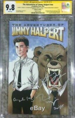 The Adventures of Jimmy Halpert CGC 9.8 SS Signed by 7 of the cast of The Office